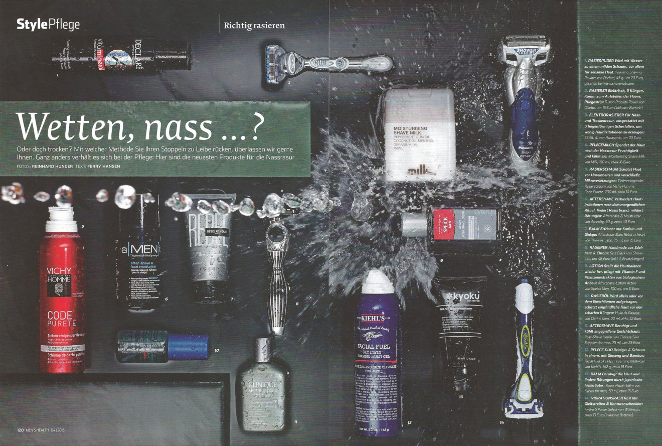 Rasiercreme, After Shave und Feuchtigkeitspflege für Männer in Men