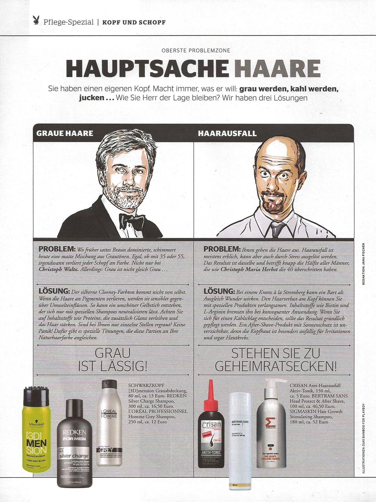 Sigma Skin Shampoo und Bertram Sans Feuchtigkeitspflege