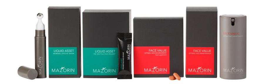Mazorin Skincare Pflegelinie für Männer